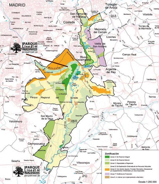 Mapa del Parque Regional del Sureste