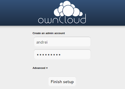 Owncloud create account
