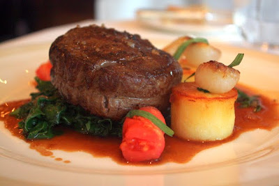 Beef at Roux at the Landau restaurant at the Langham Hotel in London