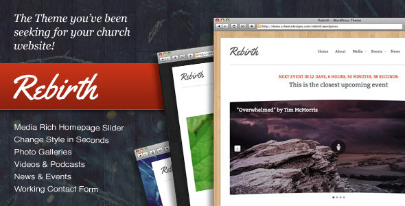 Themeforest Rebirth - The WordPress Theme for Churches
