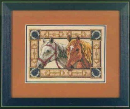 Equine paircross stitch pattern