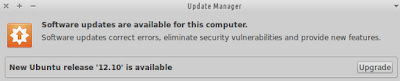 Xubuntu 12.04 Distribution Upgrade Notification