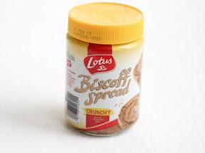 photo of a jar of biscoff thread