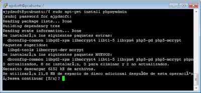 Instalar phpMyAdmin para administrar gráficamente y vía web un servidor con Linux y MySQL Server