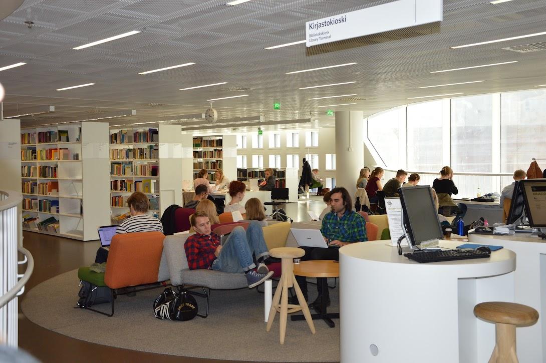 Kaisa library, prostori za uporabnike