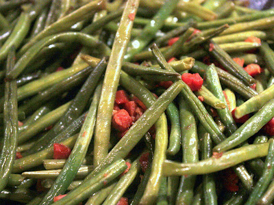 Green beans at Thanksgiving
