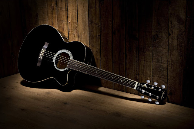 Guitar Wallpaper - Black and White Fender FA-130 Acoustic ...