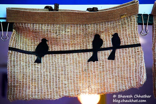 Kala Ghoda - Jute handbag with birds silhouette design