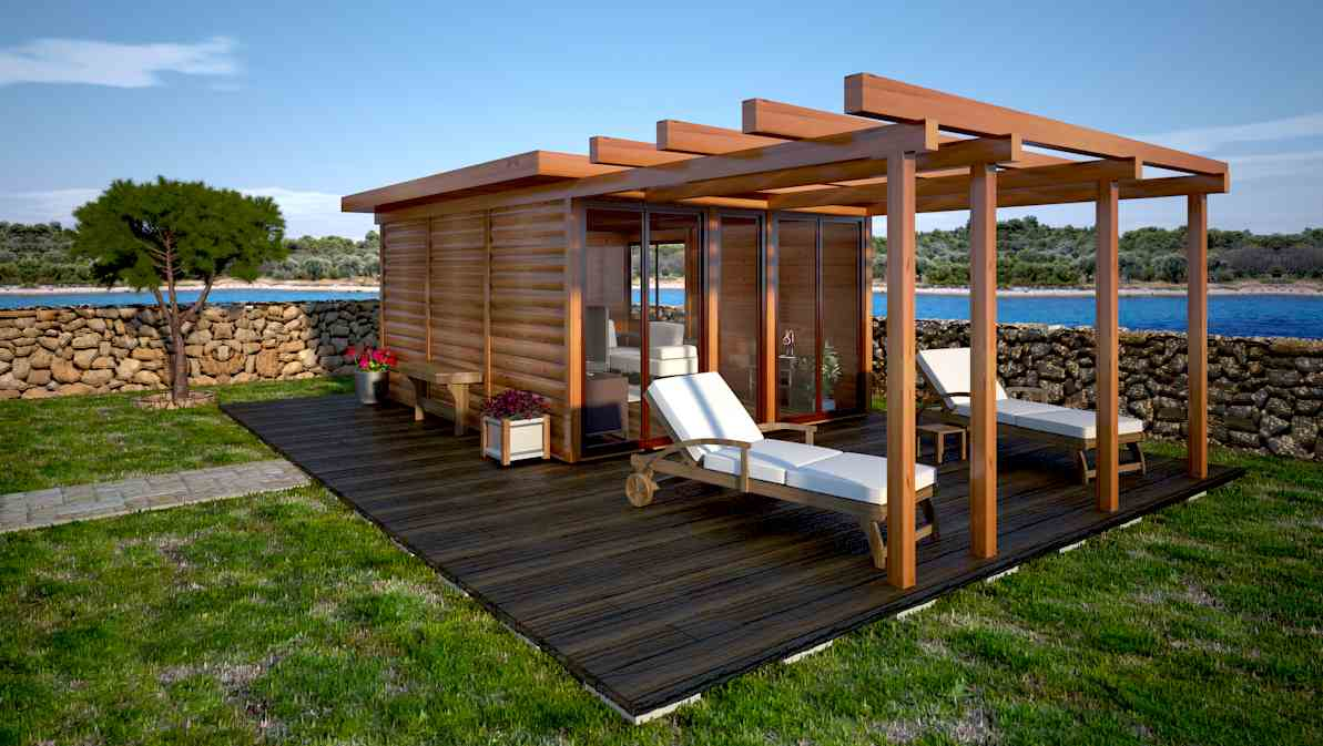 Shedworking spring garden office designs from oazis for Garden office designs