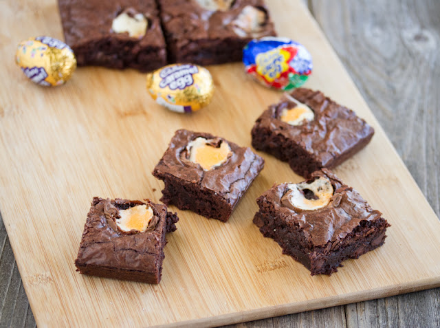 photo of brownies on a board