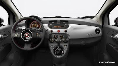 Fiat 500 USA Pink Ribbon dashboard