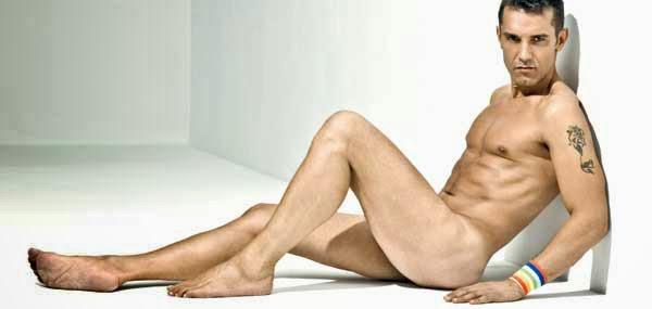 Jesús Vázquez, desnudo