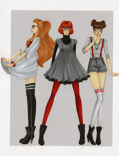 DeviantArt Fashion Illustration