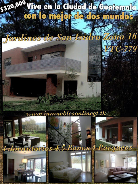 Bienes inmuebles gt guatemala real estate casa jardines for Jardines 6 san isidro