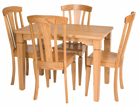 48 x 30 Harvest Dining Table and Alsace Chairs in Cinnamon Oak