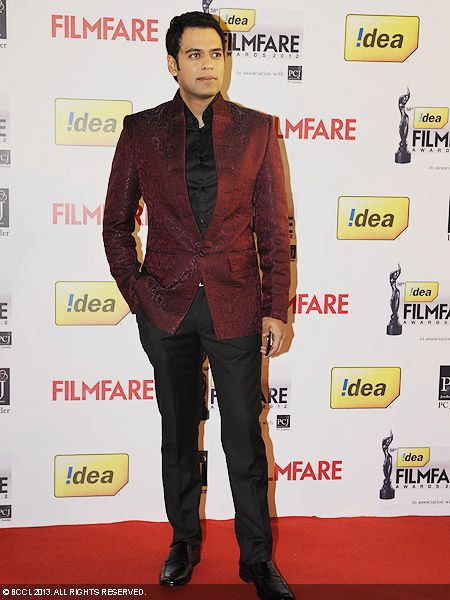 Sameer Kochhar of &#039;Bade Acche Lagte Hain&#039; fame looked a dapper as he poses for the cameras during the 58th Idea Filmfare Awards 2013, held at Yash Raj Films Studios in Mumbai.Click here for:<br />  58th Idea Filmfare Awards<br />