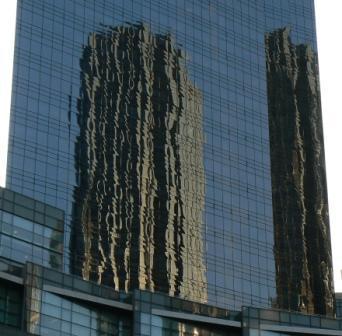 skyscraperin the mirror