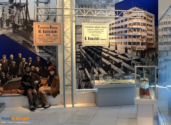 Ekspozycja początku portu w Muzeum Miasta Gdyni