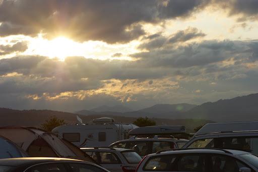 Morgen am Campingplatz