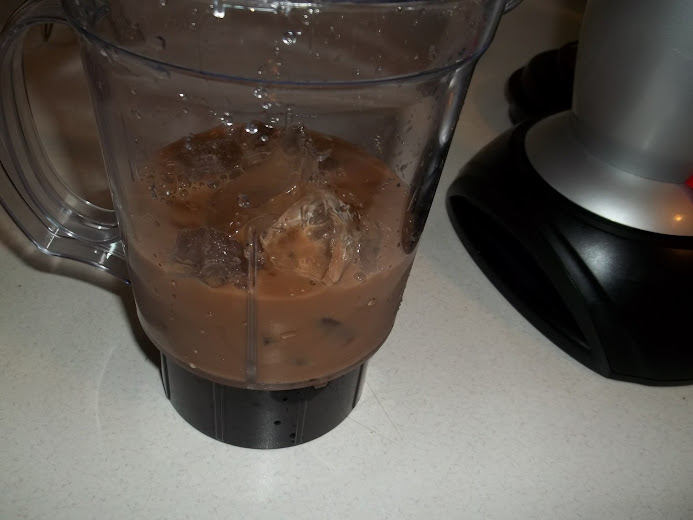 Add the iced coffee and creamer
