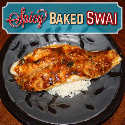 Emilycanbake spicy baked swai for Baked swai fish recipe