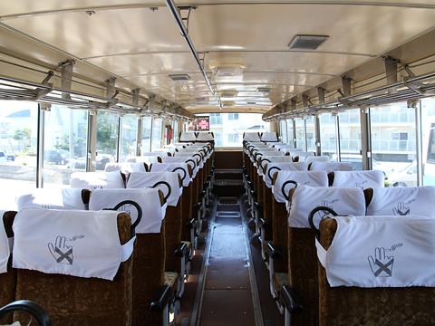 沿岸バス 羽幌線代替バス 初代車両 車内