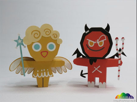 Angel Cookie Paper Toy