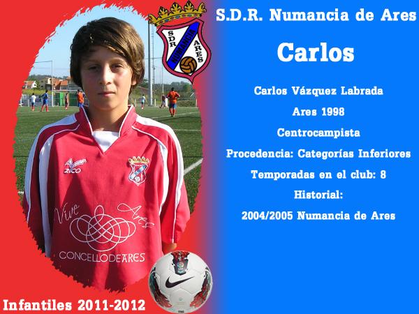 ADR Numancia de Ares. Infantís 2011-2012. CARLOS.