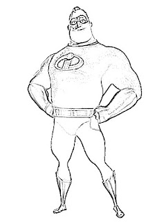 Mr Incredible Sketch