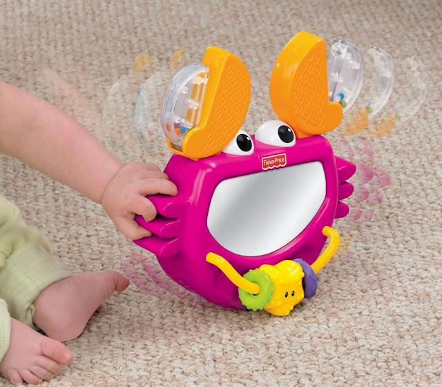 Đồ chơi và xúc xắc Gương soi Cua biển Clack & Play Crab Fisher Price giúp bé nhà bạn phát triển toàn diện