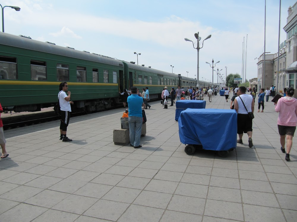 The Trans-Siberian Railway At Ulan Bator