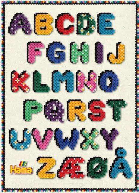 Mẫu chữ cái tuyệt vời trong bộ đồ chơi xếp hình Chữ cái ABC Letters Bead Set Hama Midi