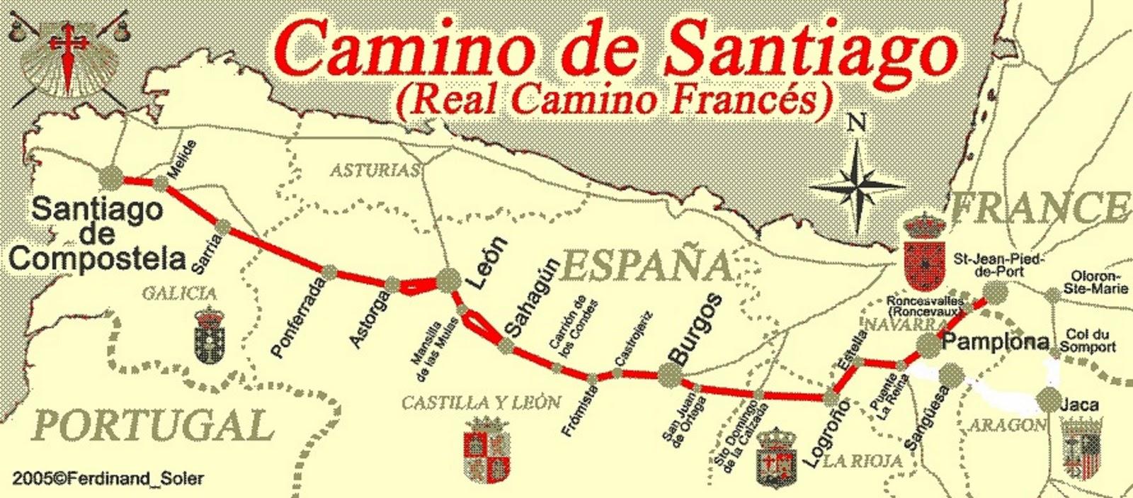 Mein jakobsweg von leoben nach santiago m rz 2011 - St jean pied de port to santiago distance ...