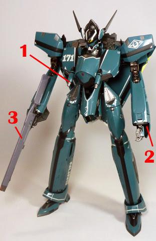 Macross Frontier VF-171 Nightmare Plus Armament weapon position