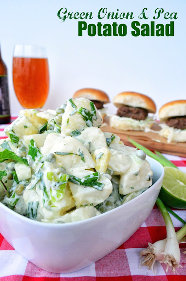 Green Onion & Pea Potato Salad from katiesCucina.com #MakeItMine #recipe