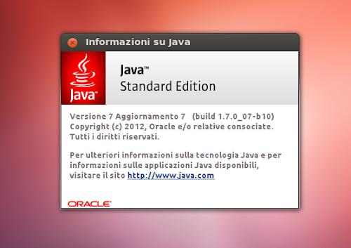 Java 7 Update 7 su Ubuntu