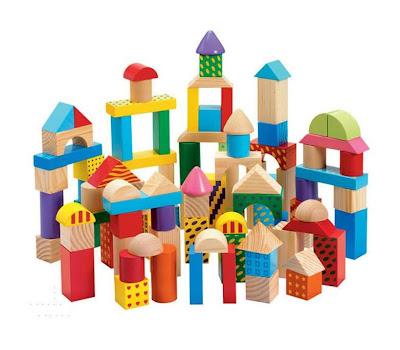 Set van 100 speelblokken