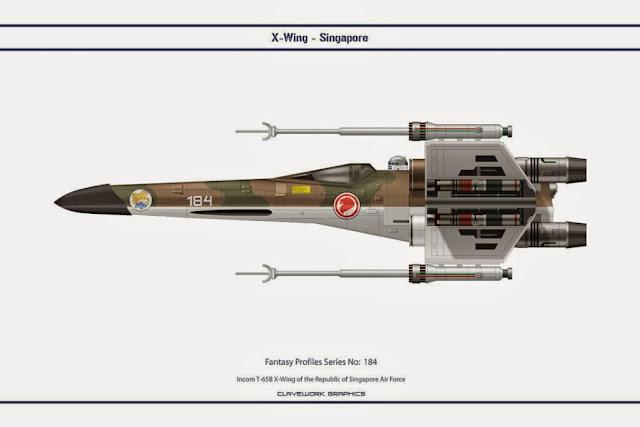 X-Wing de Clavework Graphics