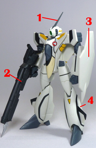 Macross VF-X2 VF-11B Thunderbolt VF-X Ravens Armament weapon position