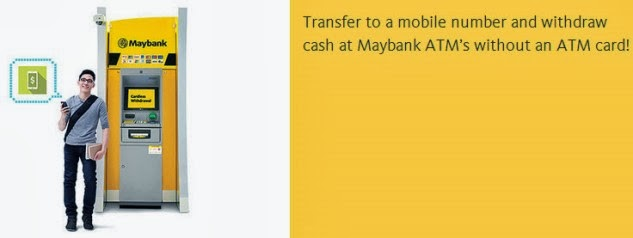 Malaysia first cardless withdrawal at Maybank ATM