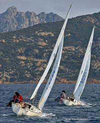 J/24s sailing off Sardinia, Italy