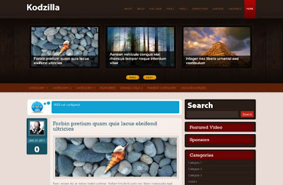 Free Red Brown Portfolio Wordpress Theme Template