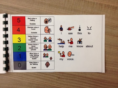 Voice Volume Chart adapted book for special education
