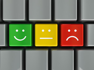 Customer Service Icons on Keyboard