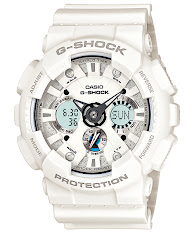 Jam Tangan Cowok Warna Putih Casio G-Shock Casio G-Shock : GA-110MC-7A