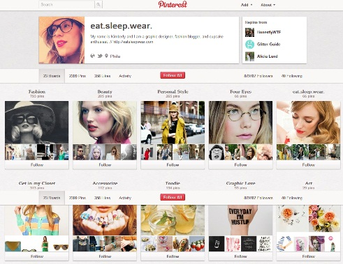 Kimberly, another Pinterest user defining Pinterest Fashion