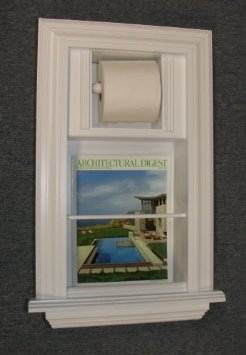 Mr 2 solid wood recessed in the wall bathroom magazine rack toilet paper holder combination for Recessed in the wall bathroom magazine rack