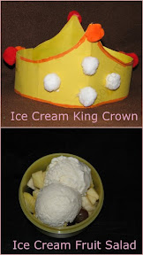 Ice Cream King Book and a Crown