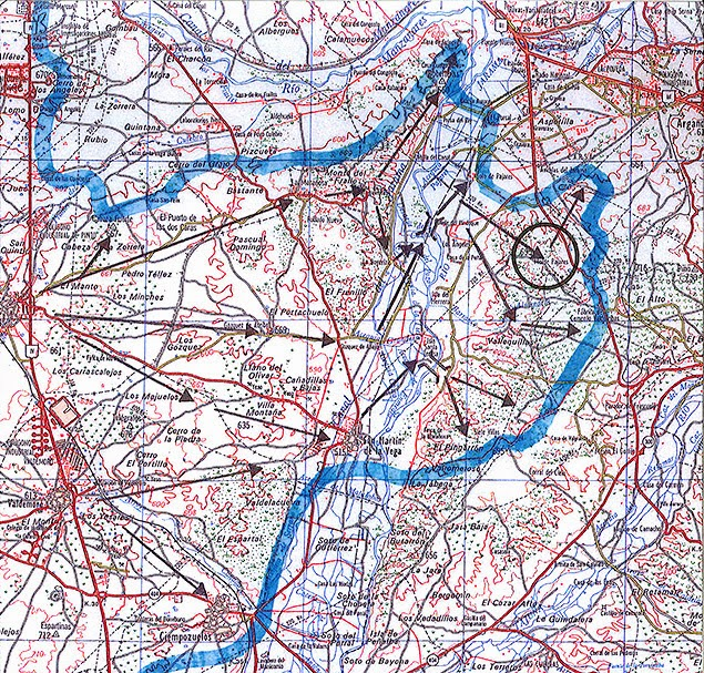 Plano de localización Vértice Pajares