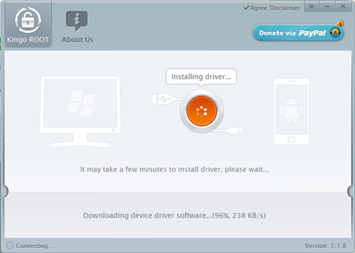 Installing Driver KingoApp